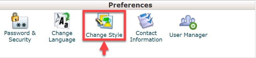 cpanel_change_style