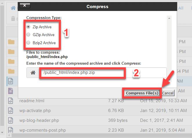 cpanel_compress_files