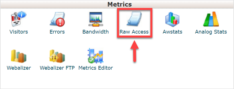 raw access logs