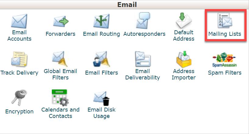 cpanel_mailing_list
