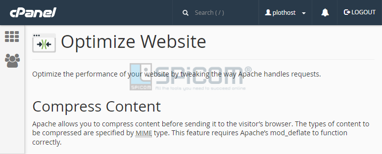 cpanel optimize website