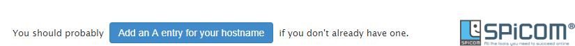 whm add a entry hostname