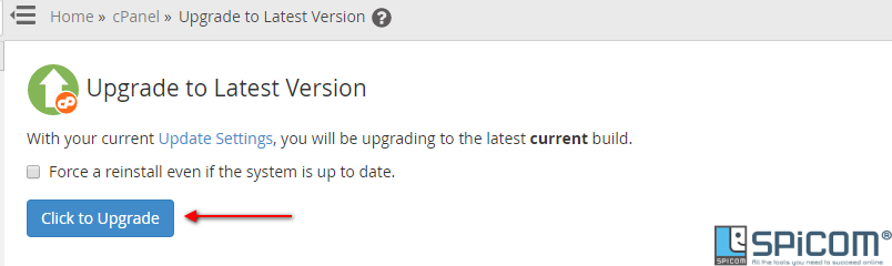 whm upgrade